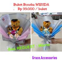Buket bucket bouquet boneka teddy bear bunga wisuda graduation gift