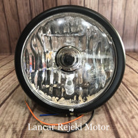 Lampu Depan Reflektor Headlamp Jap Style CB 100 Bulat