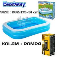 Kolam Renang Anak Bestway 54006 Size 262×175×51cm Kolam Dan Pompa