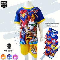 Baju Setelan Anak Power Rangers RF Fullprint - Kaos Anak Laki Murah