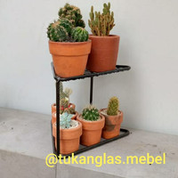 standing pot bunga / dudukan pot / rak pot / hiasan tanaman