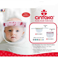 Face Shield Bayi Cintaka TKX 0011 Dengan Tali Velcro