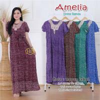 Amelia Dress Renda Maxy Dress Baju Tidur Wanita Motif Macan Tutul