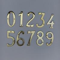 Nomor Rumah Kuningan nomor perumahan angka brass gold plate 1234567890