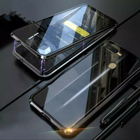 Oppo F9 Double Glass Case Magnet kaca front+back