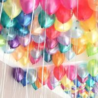 Balon metalik warna/Balon ulang tahun/Balon Metalik pesta