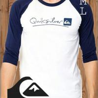 Baju Kaos Quiksilver Panjang Lengan Siku / Quicksilver