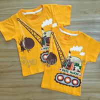 Baju Atasan Kaos Anak Laki Laki Cowok Demolition Crane Wrecking Ball