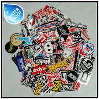 Isi 10pcs Sticker Brand / Stiker Distro Bahan Graftac Random