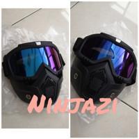 google fullface outdoor bersepeda motor pengganti masker anti sesak