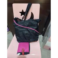 Tas bayi babymel diapers bag black pink