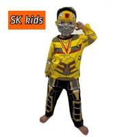 Baju anak kostum BumbleBee size 4-20(2-10th)
