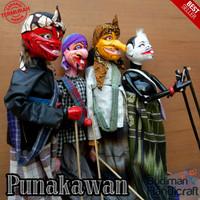 Wayang Golek Punakawan Medium Quality uk 60cm 1 Set= isi 4pcs