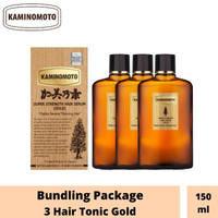 BUNDLING PACKAGE 3 KAMINOMOTO HAIR TONIC GOLD 150ml