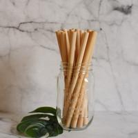 Set Sedotan bambu sikat. Bamboo straw. Biodegradable, reusable.