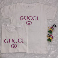 baju kaos anak anak tshirt GUCCI white (2-7th)
