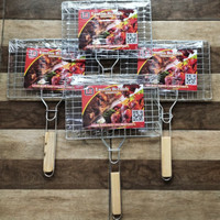 Jepit Panggang/Jepitan Bakaran/Jepitan BBQ Bahan Kawat Galvanis Tebal