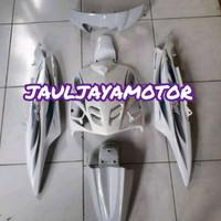 Cover Full Body Halus Yamaha Mio Sporty Warna Putih + Striping