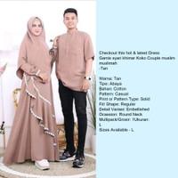 Gamis syar'i Khimar/Couple muslim/Baju couple/Baju Pasangan