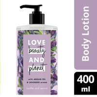love beauty and planet lavender argan body lotion