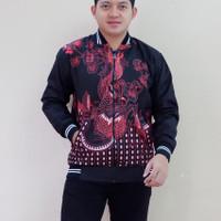 Jaket pria naga naga merah by Batik alfatih
