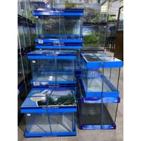 Aquarium Kaca Bending Kandila Super Clear Tank 64 L