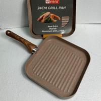 Marbel coating grill pan ukuran 24cm Original