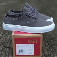Sepatu Sneakers Pria Vans Authentic Mono Grey White Premium Original