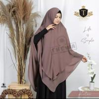 Jilbab Jumbo Syari Khimar Ceruti Pet Antem Jilbab Jumbo Hijab Muslim