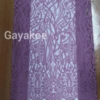 bahan kain brukat 02 semi prancis motif ornamen full nylon lavender