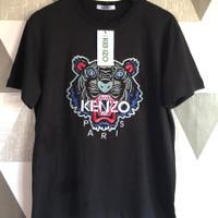 T-SHIRT KENZO TIGER BORDIR BLACK PREMIUM