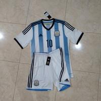 baju & celana bola original messi argentina home 2014 bnwt