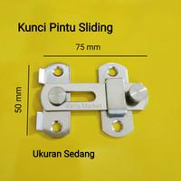 Kunci pengaman pintu kamar mandi - kunci pintu sliding