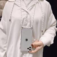 0488 LDacc Case Samsung Note 9 sling case anticrack Bening case lanyar