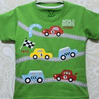 Kaos Anak Cowok Motif Mobil Balap , King World - 7 Tahun