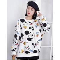 SS02 Sweater oversize mickey & friends, katun import
