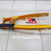 Swing Arm Lengan Ayun QTT Ninja 150 N150 Square Fin Mounting Atas Gold