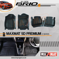 Karpet 5D MAXMAT Premium Honda Brio Satya RS 2018Up Ready Stock