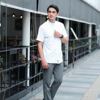 Terbaru Baju Koko baju muslim lengan pendek pria putih