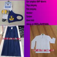 Seragam sekolah SMP Rok dan baju panjang Lengkap