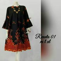 Baju atasan wanita batik blouse tunik renata jumbo ld 120