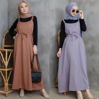 Baju Overall Wanita Dress / Jumpsuit Rok Panjang Wanita RTY