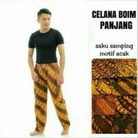 Grosir Celana Batik Coklat-Kuning Cewek dan Cowok