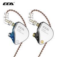 Headset Earphone CCA CA4 With Mic 1DD+1BA In Ear Monitor Headphone IEM
