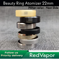 Beauty Ring For RDA RTA All Atomizer 22mm SS Silver Black Gold Ultem