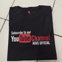 Kaos t-shirt baju youtube bisa request nama channel kalian sendiri
