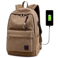 Tas Ransel Sekolah Backpack Tas Laptop Pria Wanita Canvas DxYizu