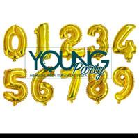 Balon Angka Foil Gold / Balon Angka / Balon Ulang Tahun / Balon Foil