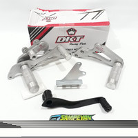 Underbone Foot Step Postep Suzuki Satria Fu F 150 Silver DKT Racing