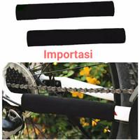 Bike Chain Protector Frame Cover Pelindung Rantai Sepeda MTB Neoprene - Hitam